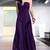 one-shoulder long Backless Purple bridesmaid dresses - £119.00 :
