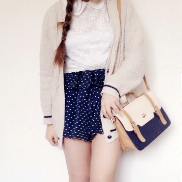 ivory cardigan kawaii kfashion