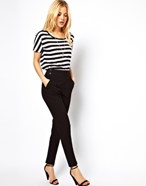 Asos high waist trousers with button detail at asos