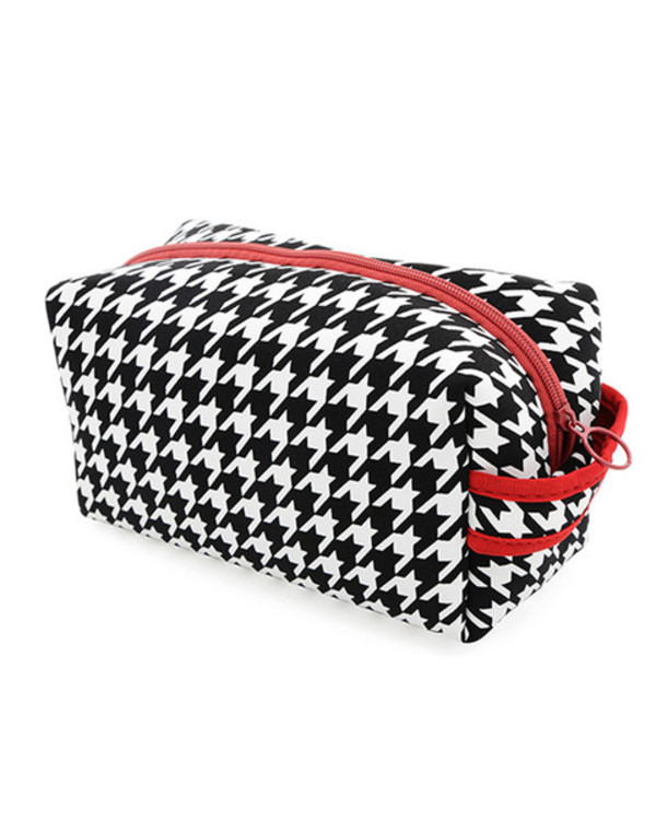 make-up red black makeup bag