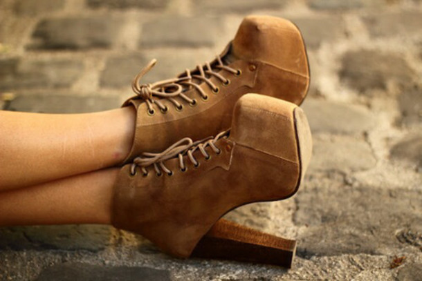 shoes brand lace up ankle boots platform lace up boots suede boots high heels brown shoes boots