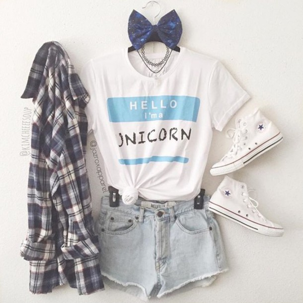 T Shirt Unicorn Unicorn Tee Fashion Summer Hipster Cool Style Girly Lookbook Tumblr