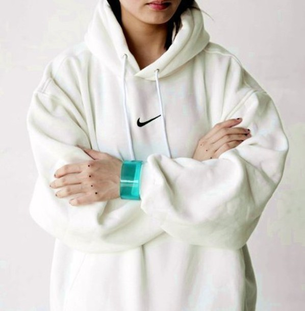 Sweater: nike hoodie, nike pro, nike sweater, white, white sweater ...