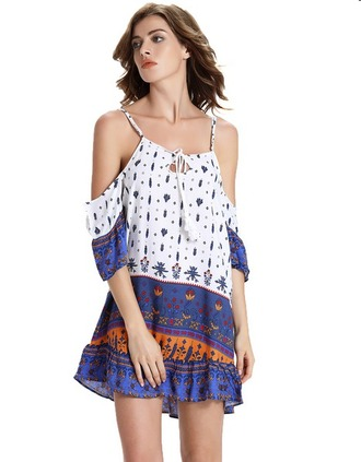 blouse boho dress floral dress mini dress striped dress short off the shoulder summer dress