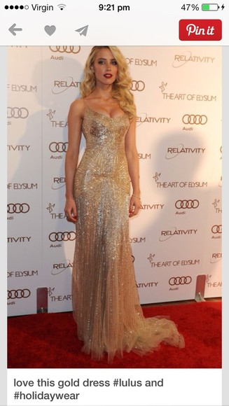dress evening dress gold gold sequins pleated
