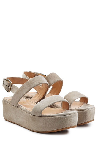 sandals platform sandals suede beige shoes
