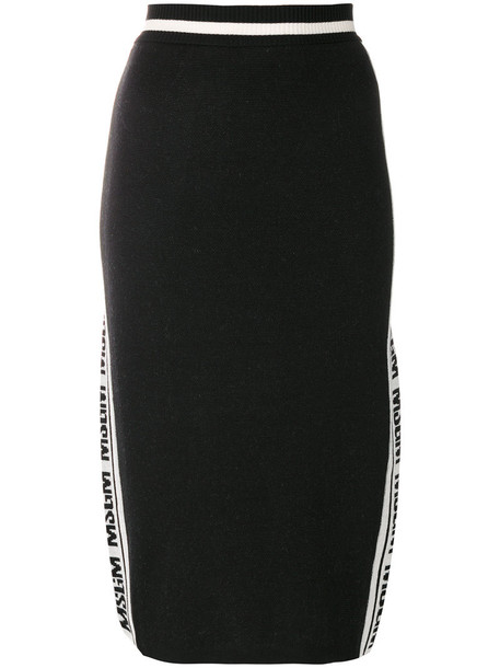 MSGM skirt pencil skirt women black wool
