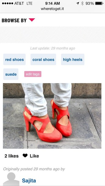 shoes red shoes coral shoes high heels