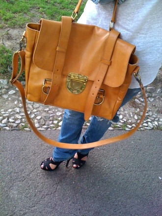 bag satchel brown bag mulberry orange bag