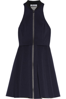 Pleated neoprene mini dress | T by Alexander Wang | THE OUTNET