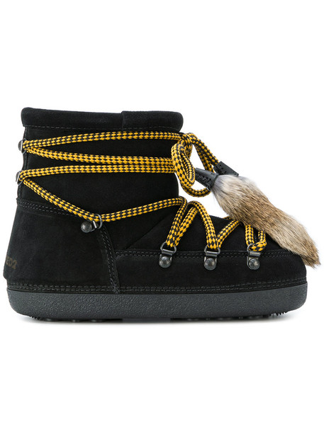 fur women suede black shoes