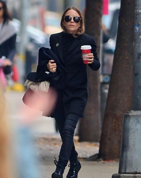 olsen sisters blogger jacket sunglasses