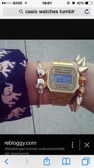 jewels watch bracelets golden studs jewelry bracelets skeleton