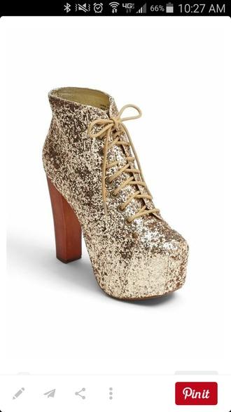 shoes sparkle booties high heel wedge