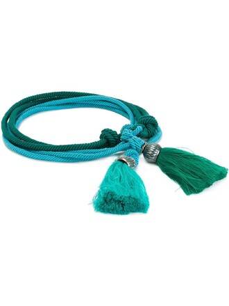 tassel belt blue