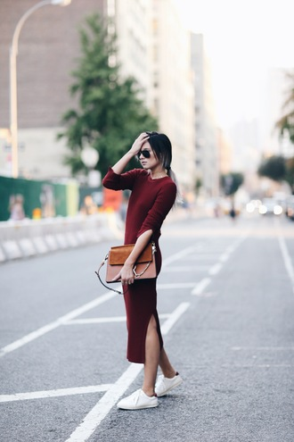 we wore what blogger dress shoes bag sweater