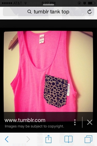 tank top cheetah