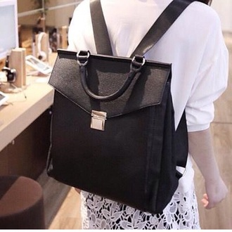 bag black backpack backpack for school fashion style back to school