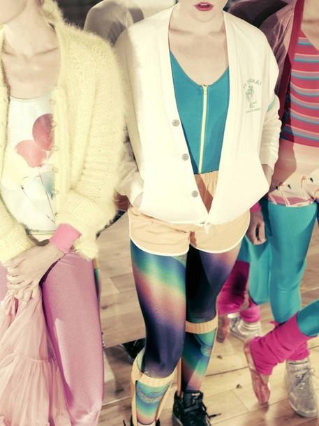 shorts mint flamingo neon fitness fitness 80s style rainbow sportswear flamingo flamingo swimwear