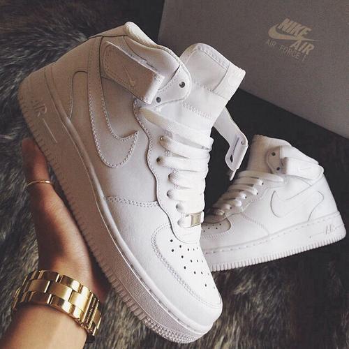 Nike white high