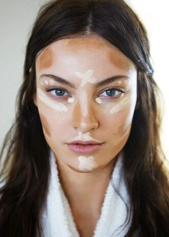 make-up face makeup foundation contouring tan