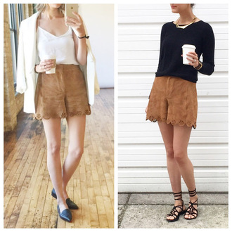 see anna jane blogger shorts jacket tank top sweater jewels