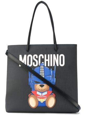 bear women bag tote bag black