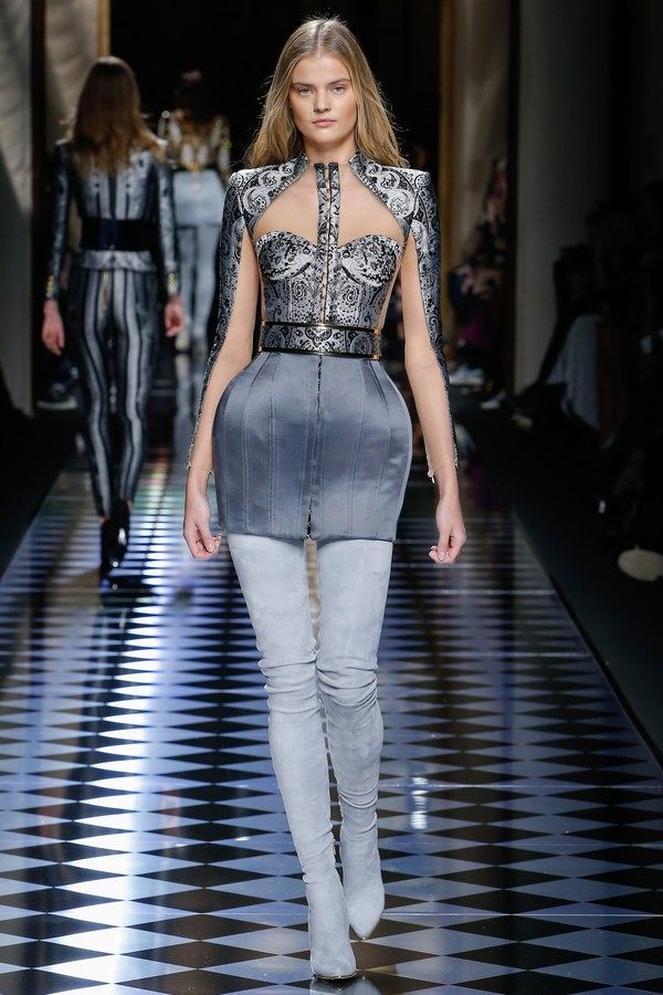 dress dree mettalic high waisted belted kate grigorieva hook and eye high waisted shoes crotch grey boots