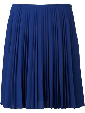 skirt pleated skirt pleated blue