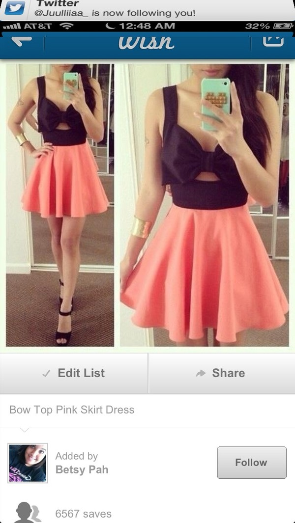 skirt bow cute skater skirt pink floral necklace tank top shoes jewels ebonylace.storenvy ebonylace.storenvy