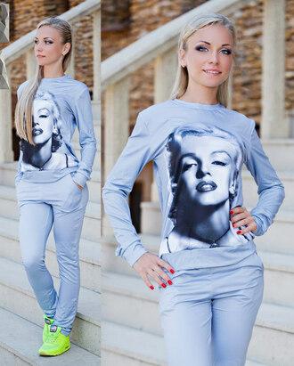 zefinka sweatshirt sweatpants marilyn monroe