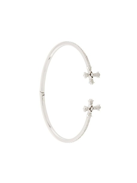 elise dray cross women gold white grey metallic jewels