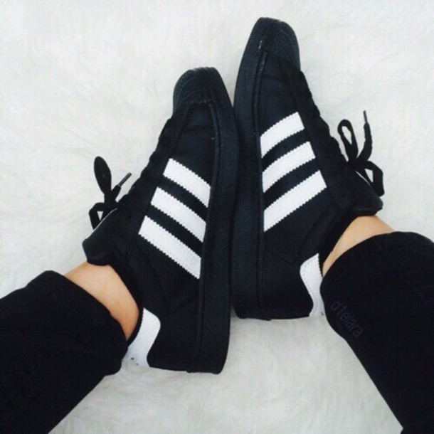 shoes black adidas adidas originals grunge tumblr cute style