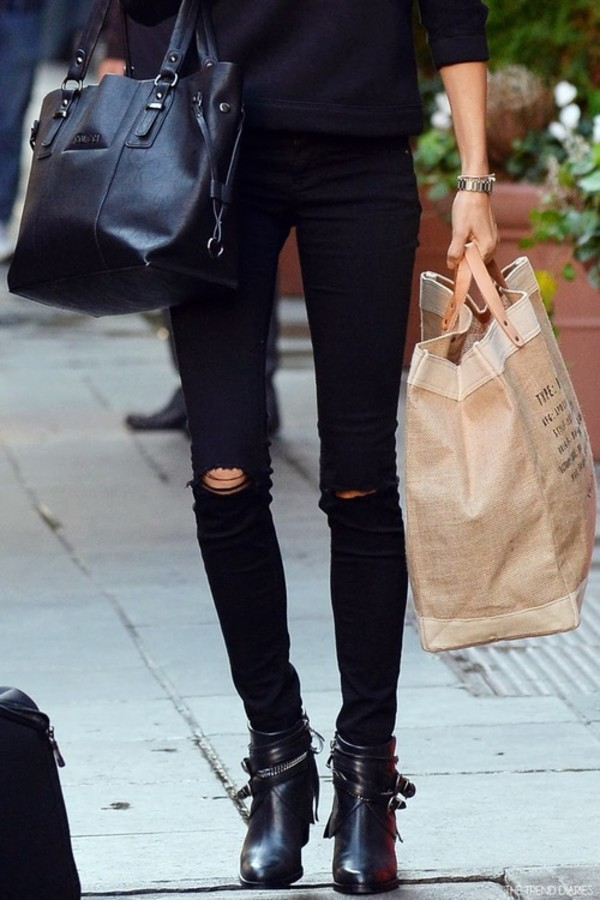 pants black skinny pants