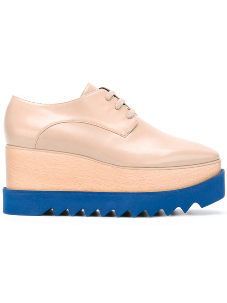 Stella McCartney women shoes lace-up shoes lace nude