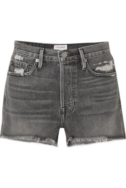 FRAME shorts denim shorts distressed denim shorts denim
