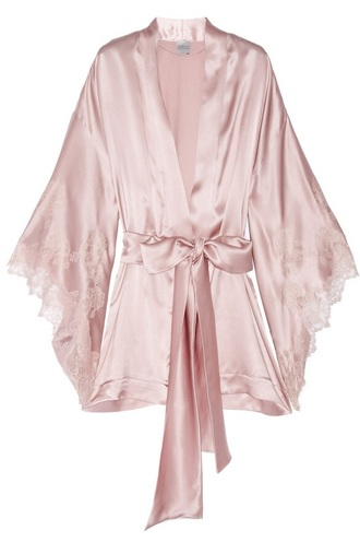 pajamas pink silk lace robes