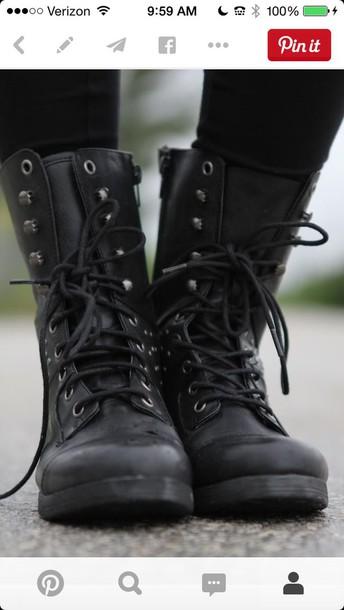 shoes combat boots black black combat boots army boots combat boots shoes black grunge flat tumblrshoes tumblr grunge