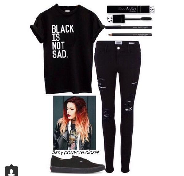 t-shirt black sad
