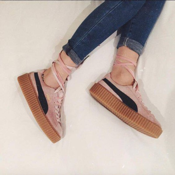 wholesale dealer ec592 35fba Amazon.com: Puma Suede Rihanna Fenty Creepers Womens Pink ...