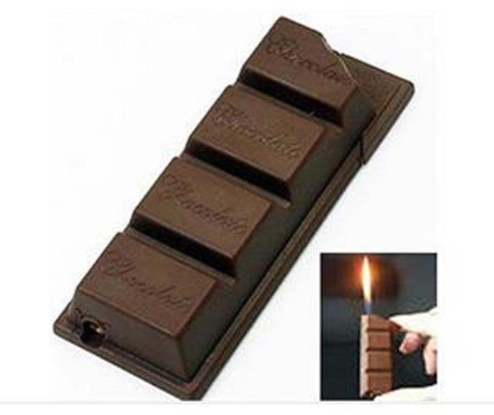 New Novelty Funny Creative Chocolate Candy Bar Shaped Pipe Cigarette Lighter | eBay