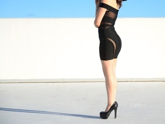 bodycon dress panel mesh party outfits little black dress little black dress bodyhugging
