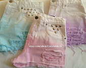 ombre shorts on Etsy, a global handmade and vintage marketplace.
