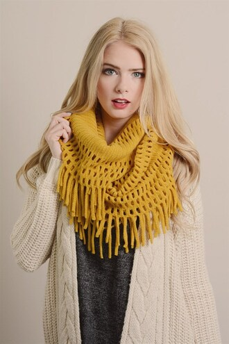 scarf fringe scarf mustard yellow hot trends winter scarfs trends winter scarf mustard