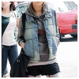 cardigan denim jacket vest jacket coat fall outfits fashion girly kawaii cute streetwear style clothes