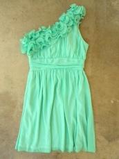 dress,mint dress,mint,floral,pinterest,pretty,beautiful,graduation dress