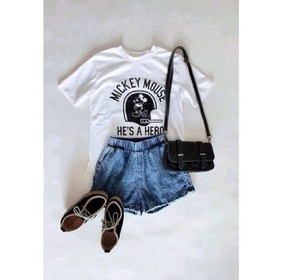 retro black top white t-shirt mickey mouse shirt