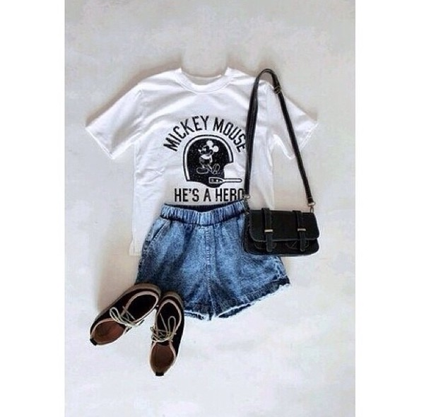 t-shirt mickey mouse black white top shirt retro shoes shorts