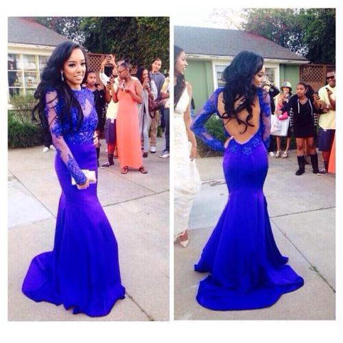 2014 New Prom Dress - Discount New Design 2014 Royal Blue Long ...