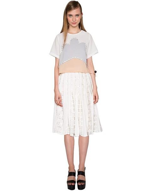 Cute White Summer Skirt Outfits